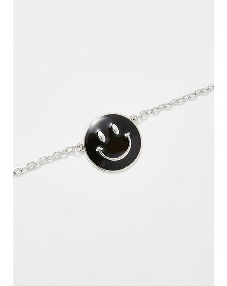 Easy Goin' Smiley Face Necklace