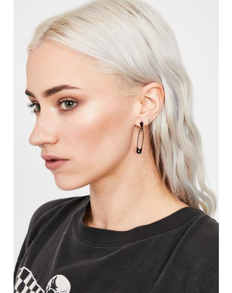 Danger Story Safety Pin Earrings