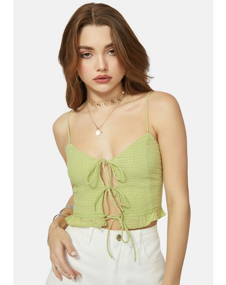 Here And Now Tie Front Top