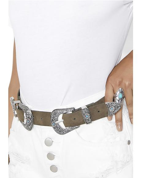 Wynonna Double Buckle Belt