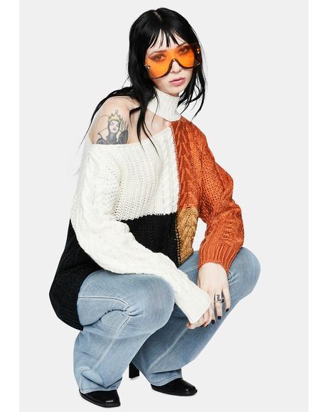 Pretty Difficult Colorblock Knit Sweater