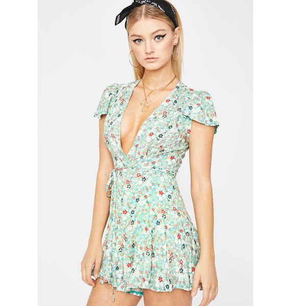 Flower Sunshine Vibes Mini Romper