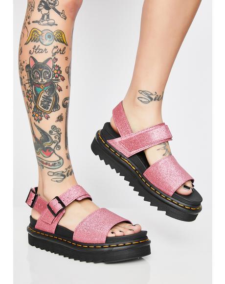 Voss Fine Glitter Sandals