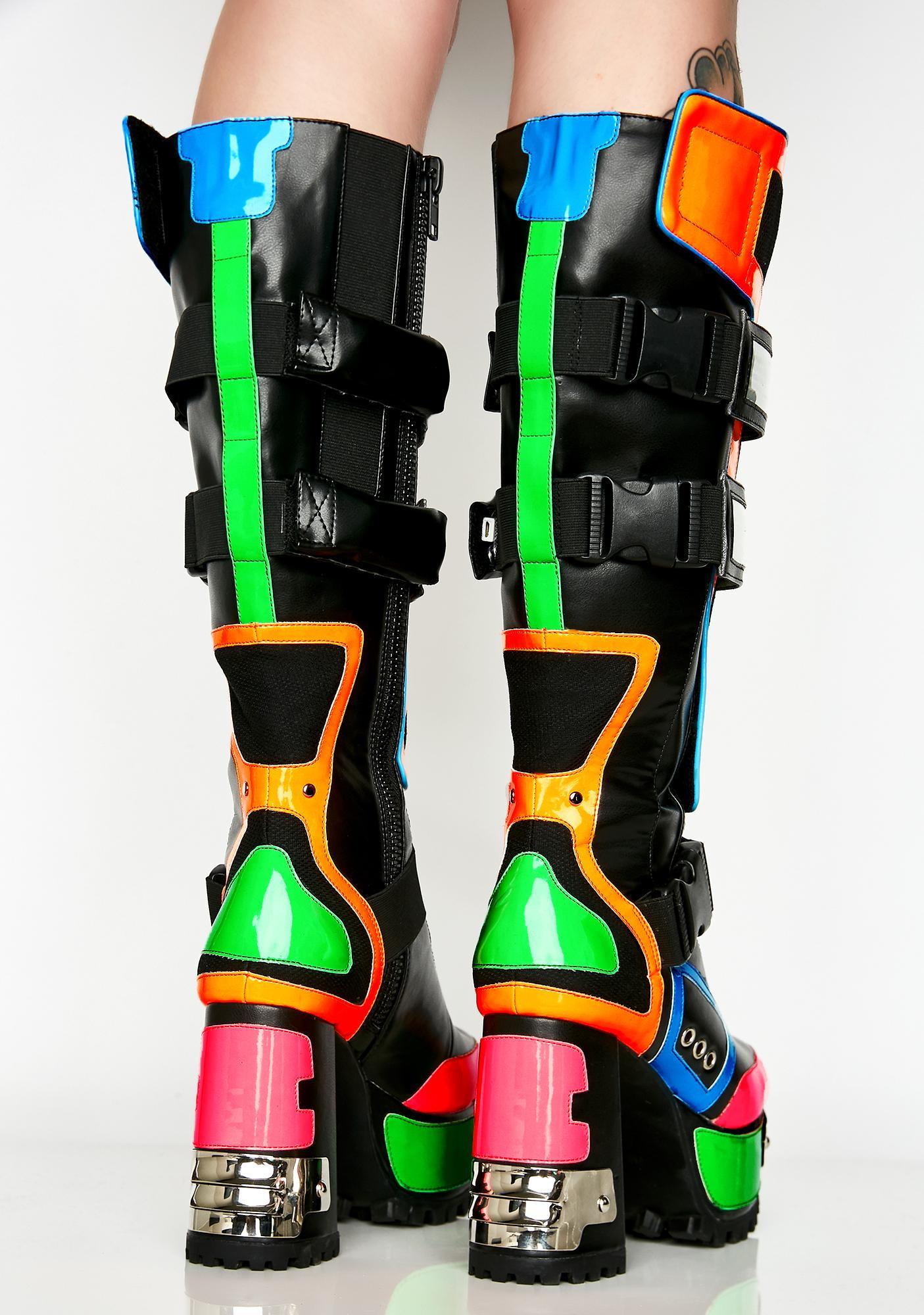 Club Exx Cybertron Babe Platform Boots