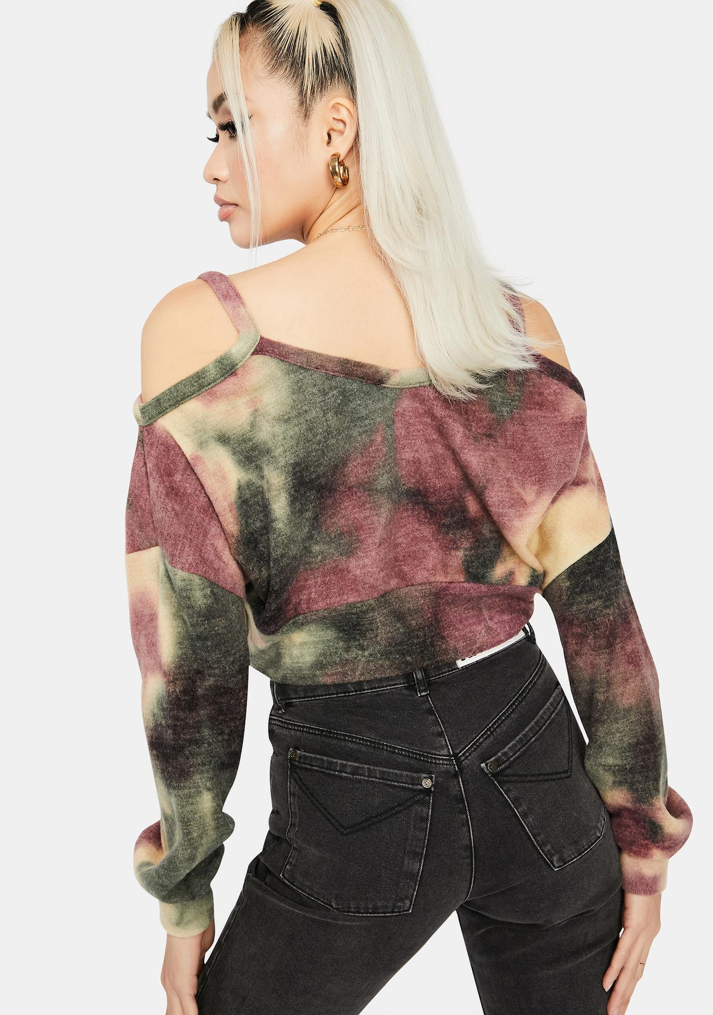 Baddie Mix Tie Dye Sweater
