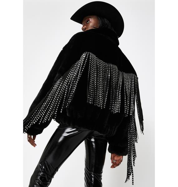 AZALEA WANG Tinashe Bling Fringe Jacket