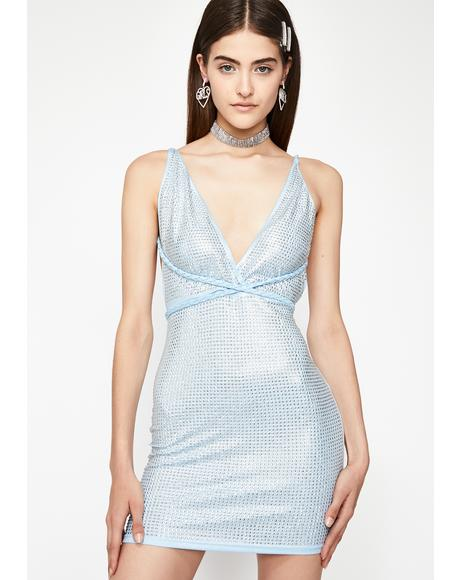 High Class Hunty Metallic Dress