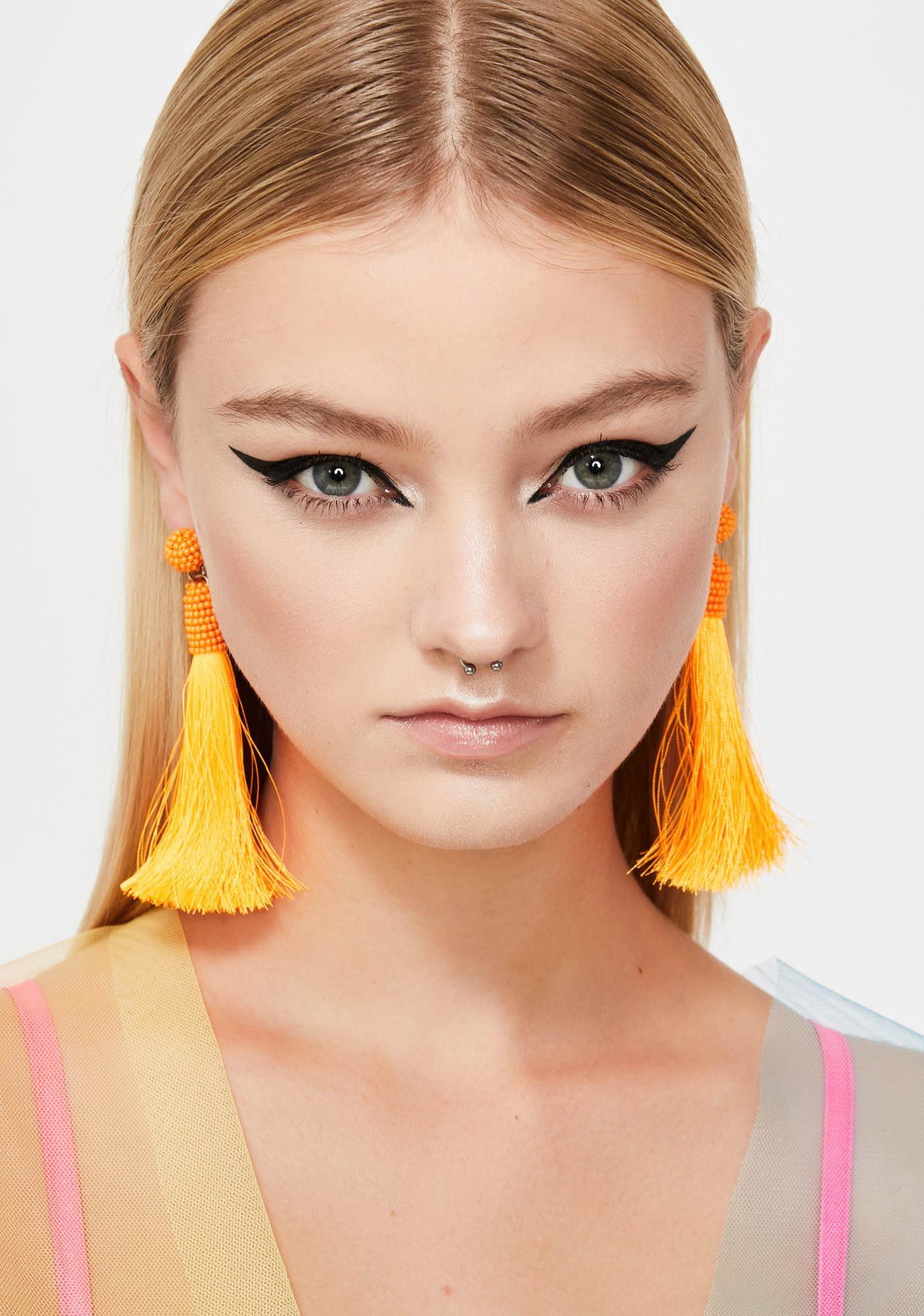 Juiced Hot Tropic Tassel Earrings