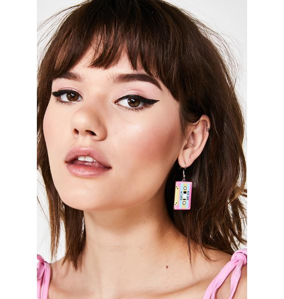 Slow Jamz Cassette Earrings