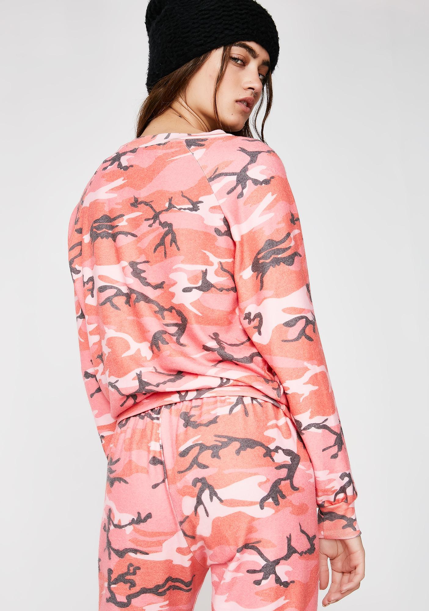 Wildfox Couture Fire Camo Junior Sweatshirt