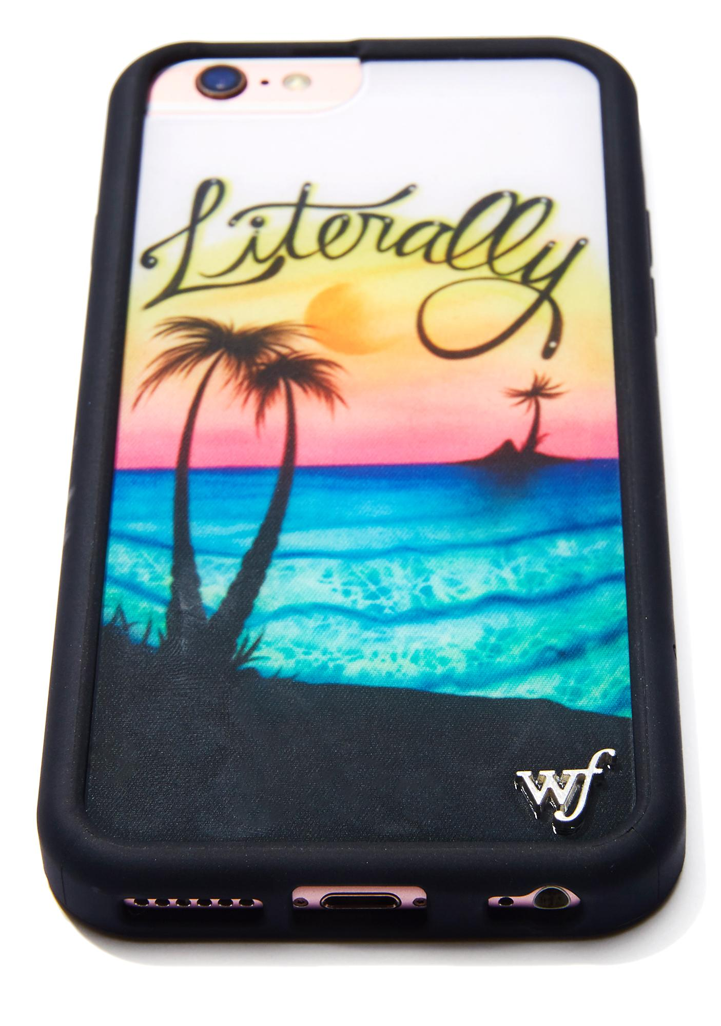 Wildflower Literally Sunset iPhone Case