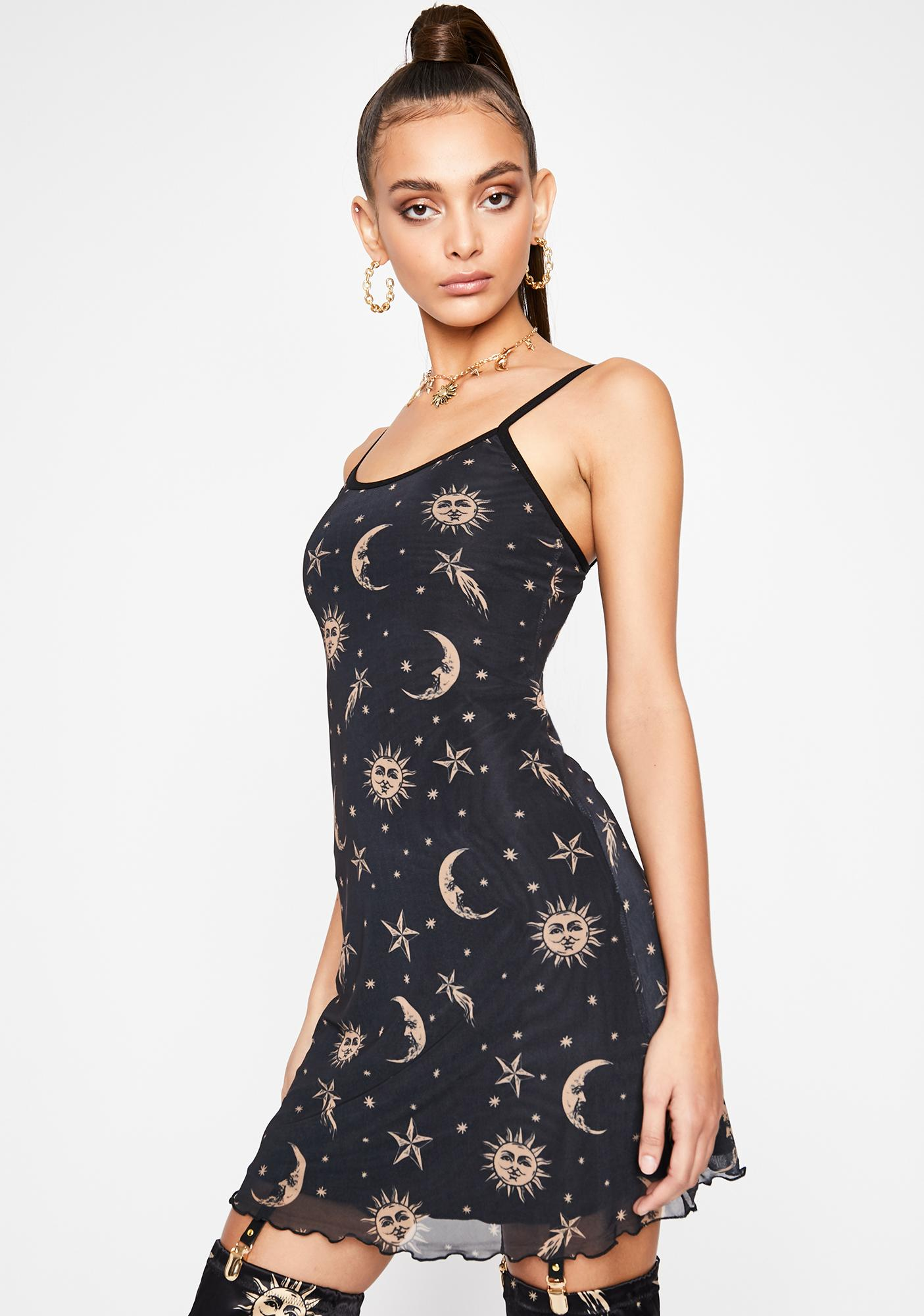 HOROSCOPEZ Walk The Moon Slip Dress