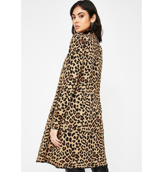 Jawbreaker Oversized Leopard Print Cardigan