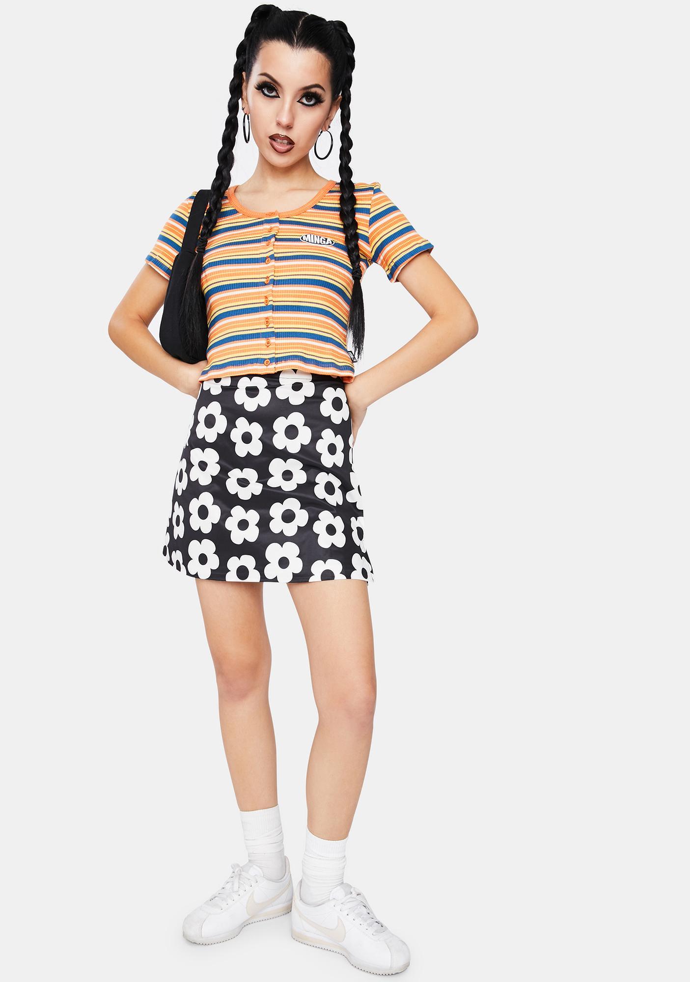 Minga Miss Sunshine Striped Crop Top