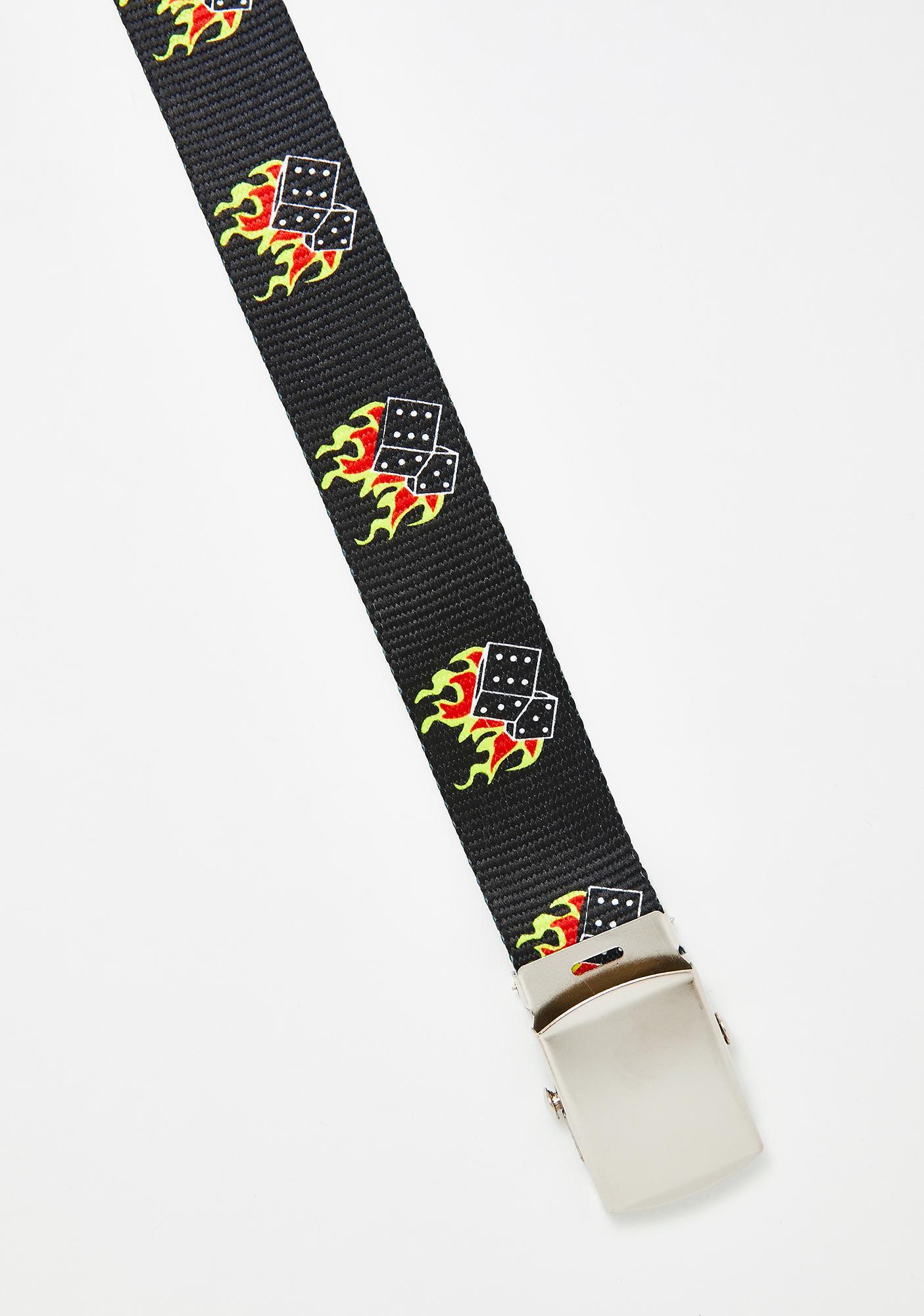 Smoking Dice Canvas Belt