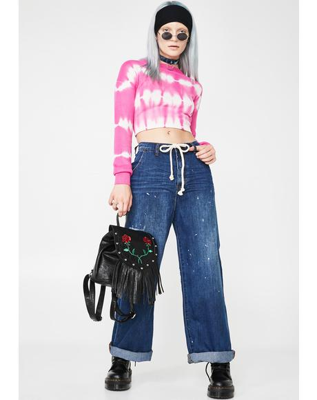 Bad Boys High Waist Wide Leg Jeans