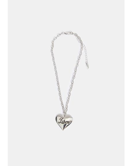 Listen To Ur Heart Libra Necklace