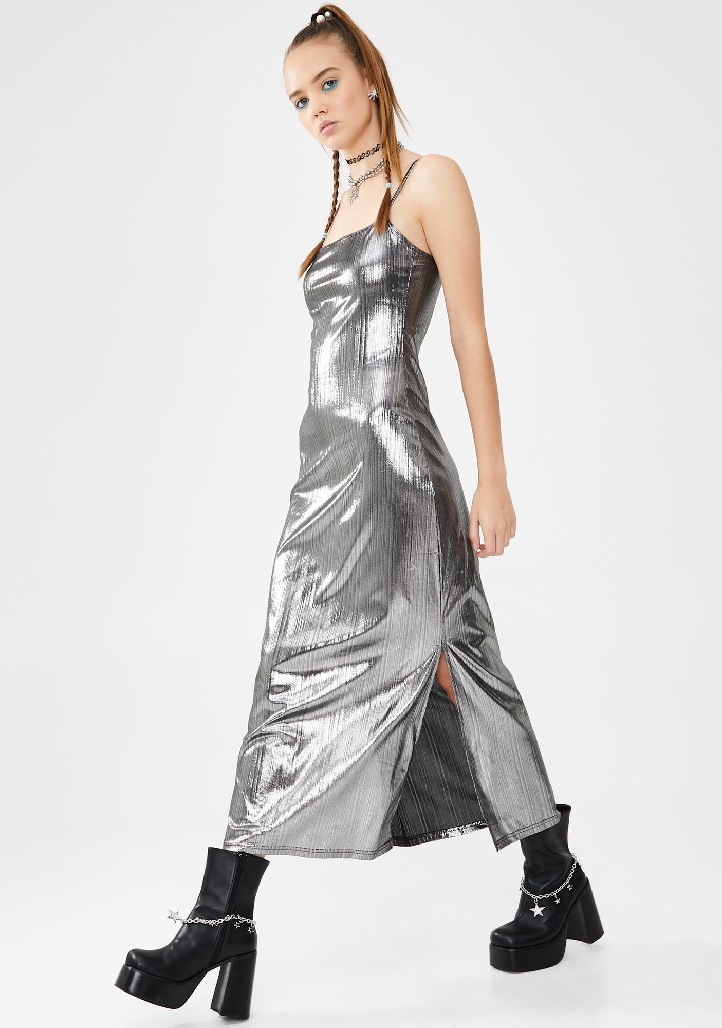 dELiA*s by Dolls Kill Divalicious Metallic Maxi Dress