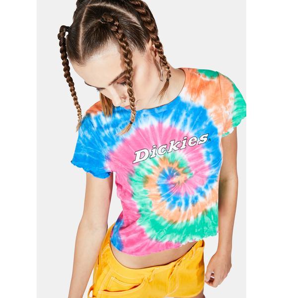 Dickies Girl Tie Dye Logo Crop Tee