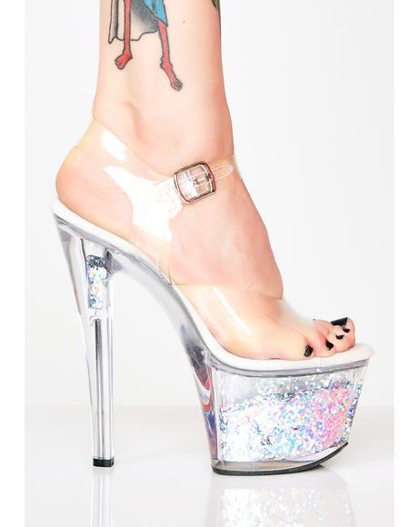 Call Me Crystal Adore Platform Heels