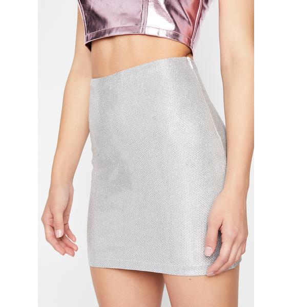 Chrome Midas Touch Mini Skirt