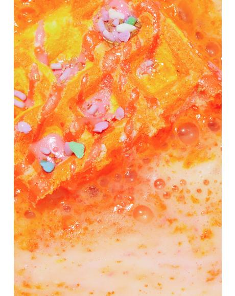 Chai Tea Waffle Sandwich Bath Bomb and Bubble Bar