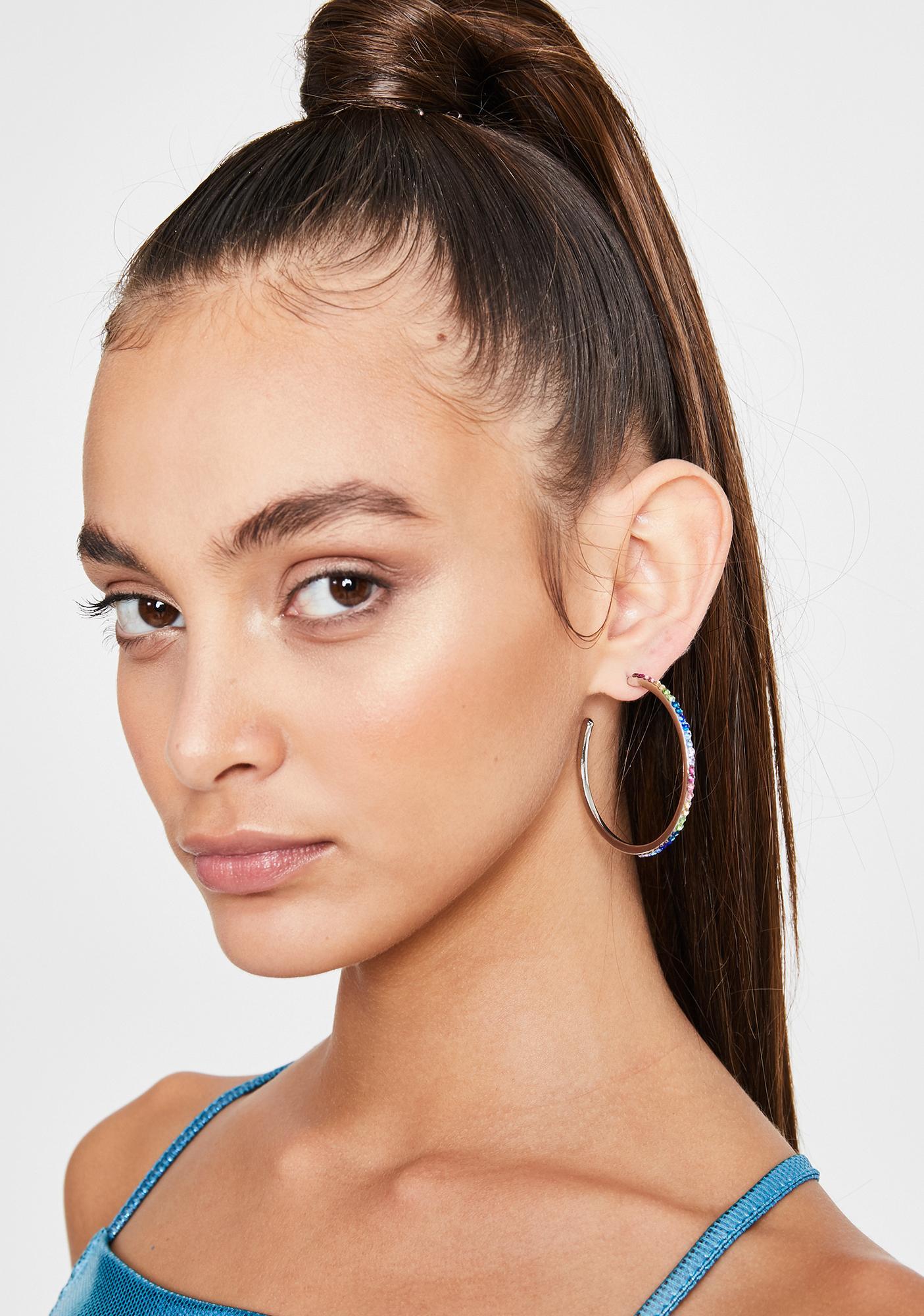 Rich Prisms Hoop Earrings