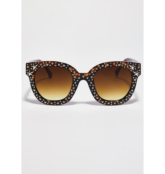 Tortoise Take The Fame Star Sunglasses