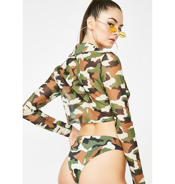 Baddie Revolution Camo Bottoms