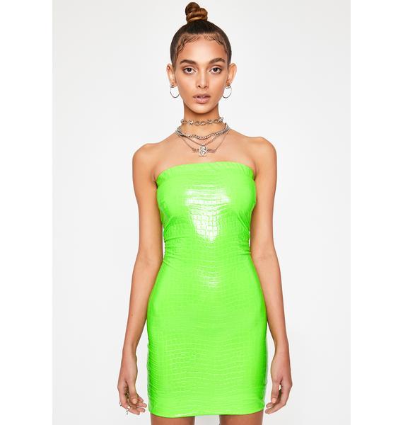 Slime Crime Vinyl Dress