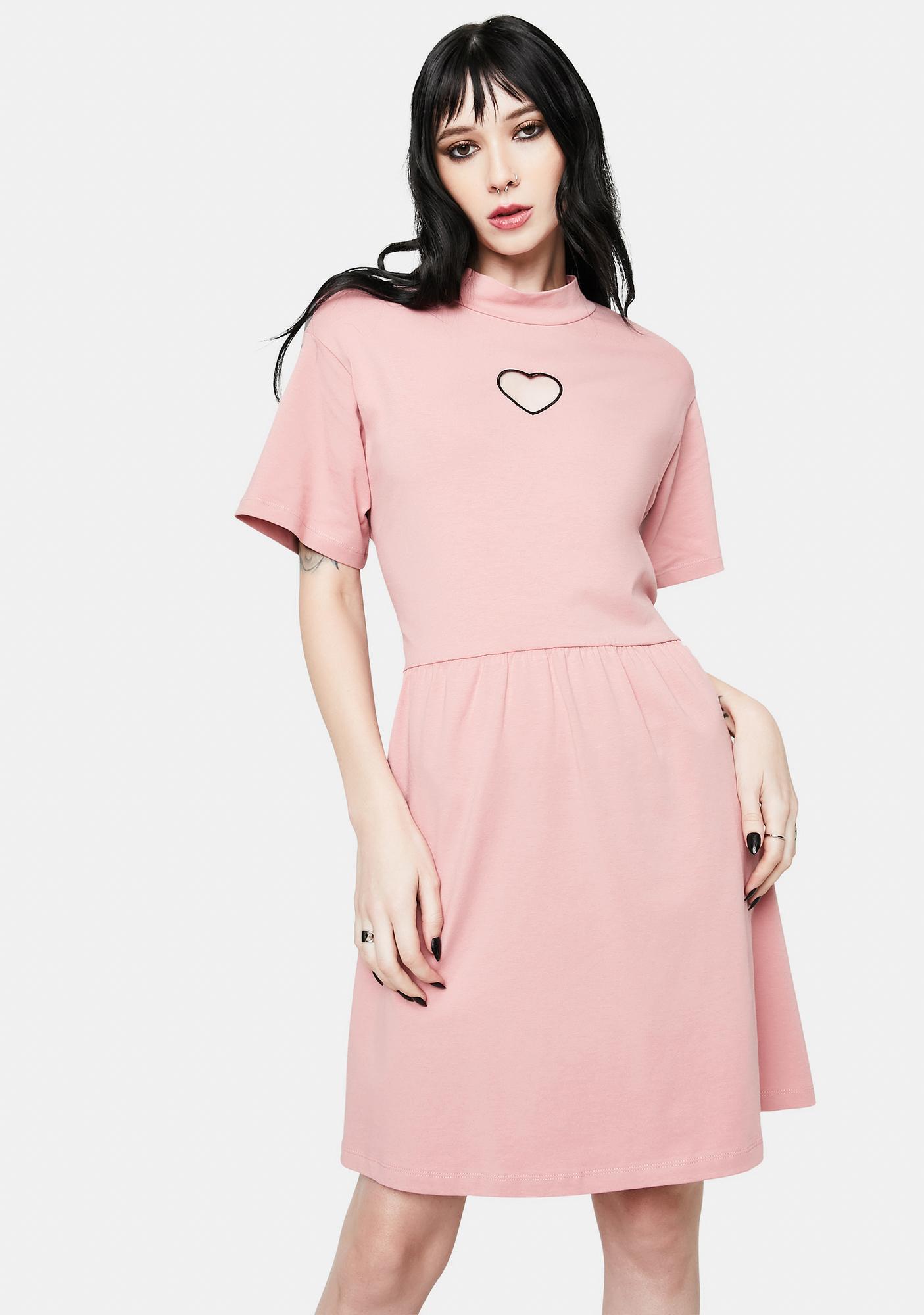 Fearless Illustration Heart On My Sleeve Smock Dress