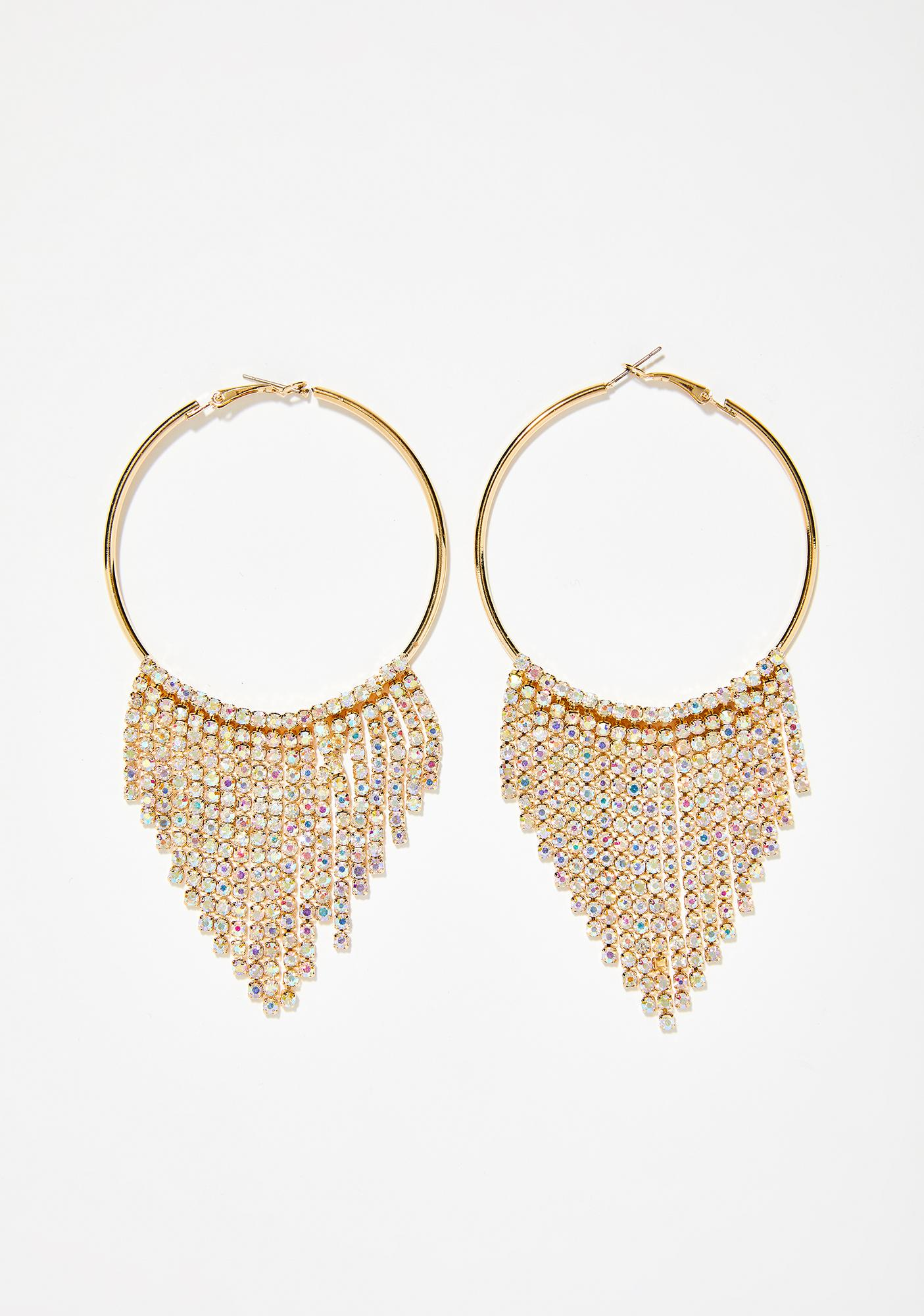 Diamonds Or Nothin' Rhinestone Earrings
