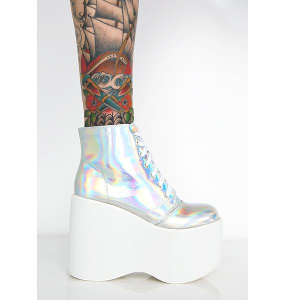 Cosmic Shock Waves Platform Boots