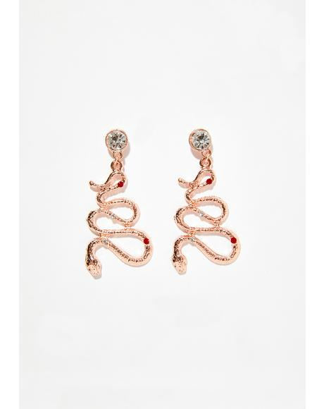 Deadly Sin Snake Earrings