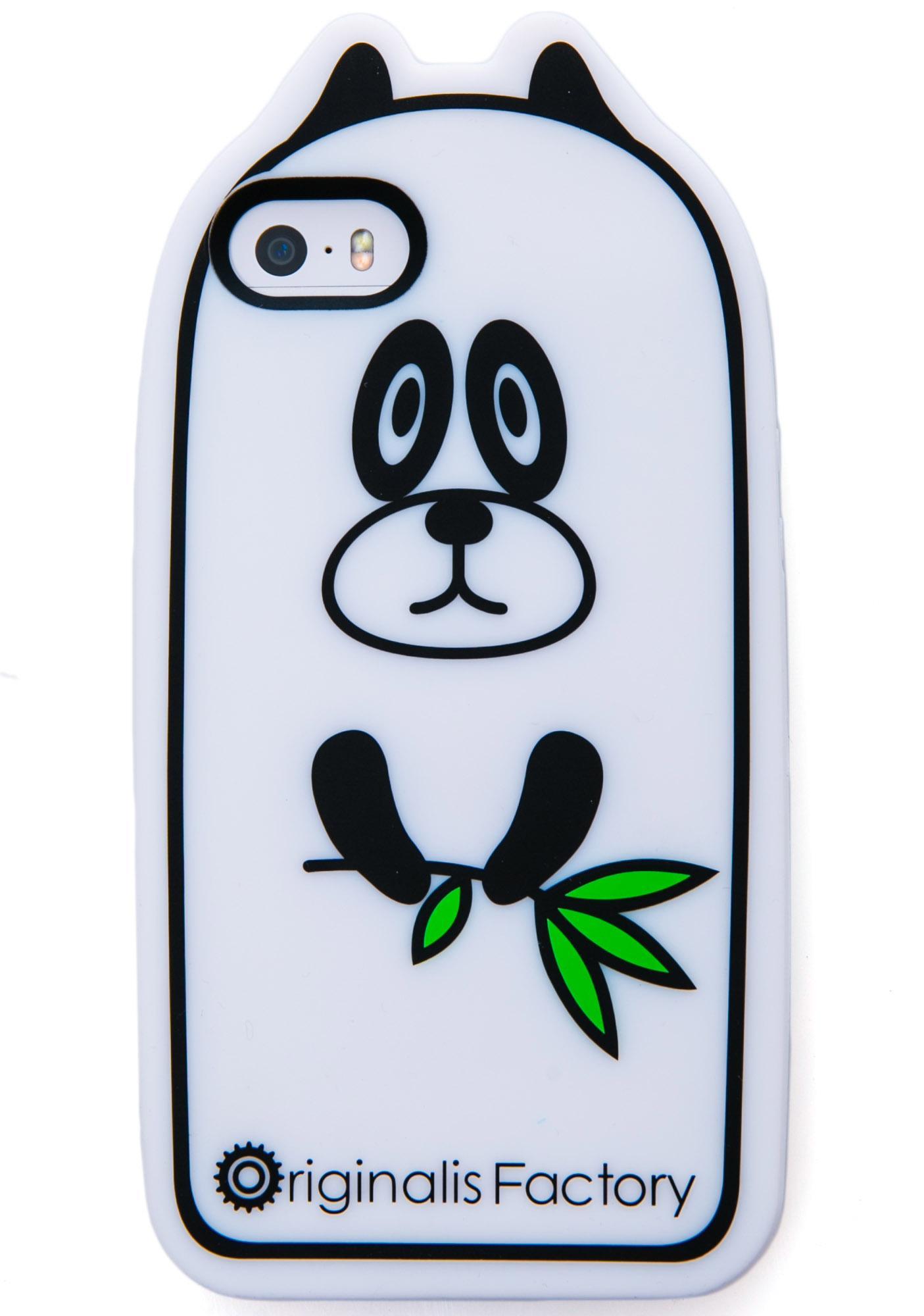 Smokin' Panda Grass iPhone 5 Case