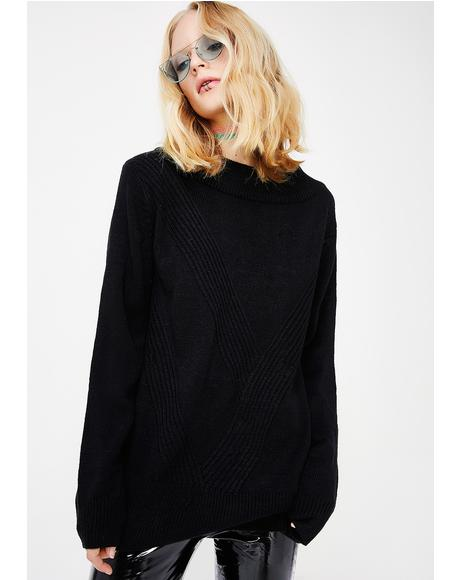 Midnight Undercover Freak Strap Sweater