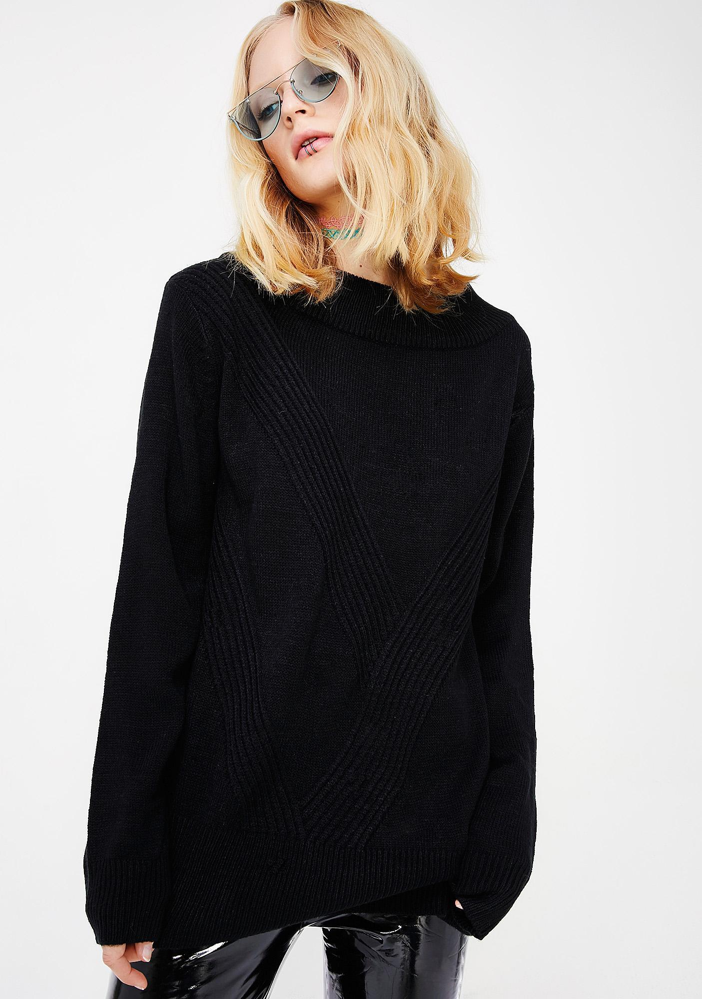 Midnight Undercover Freak Strap Sweater