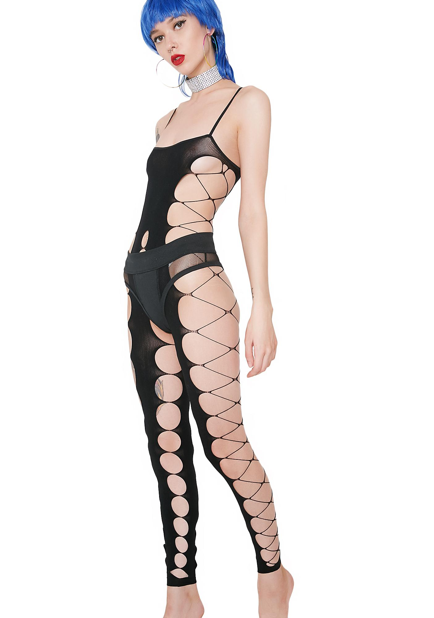 Blackheart Sheer Cut-Out Bodystocking