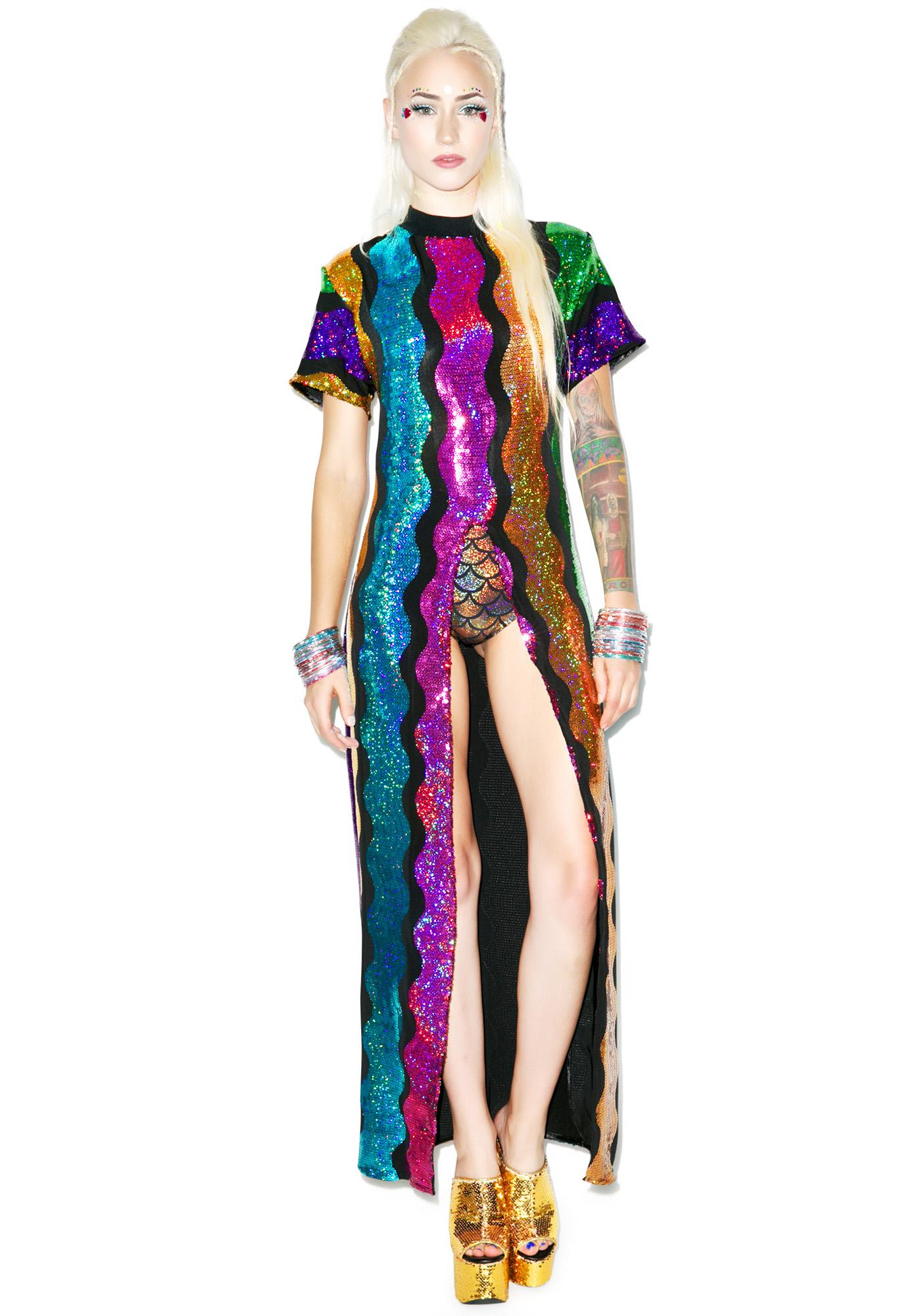 Isolated Heroes Rainbow Split Dress