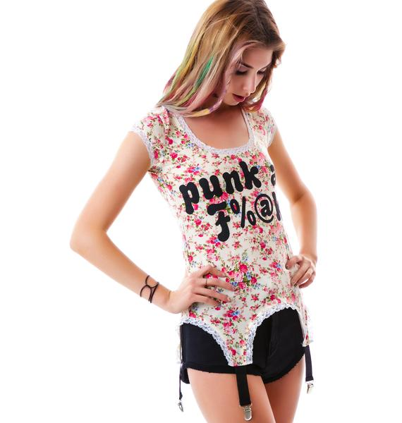 Too Fast Punk as Fuck Revolt Garter T-Shirt