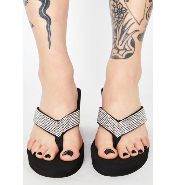Haute Heatwave Heeled Flip Flops