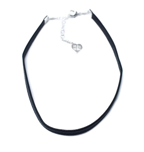Vidakush Plain Leather Choker