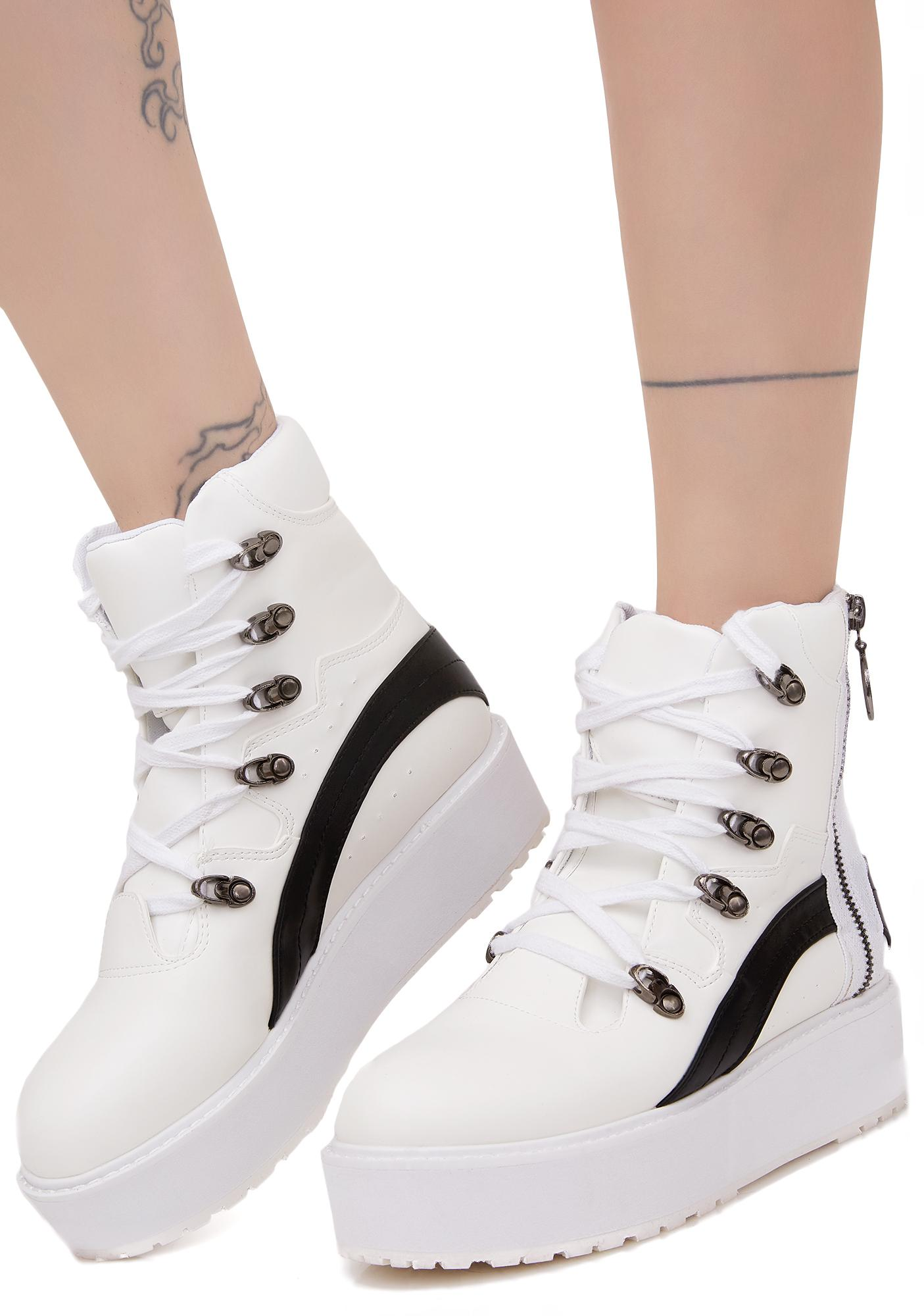Game Winner Zipper Platform Sneakers