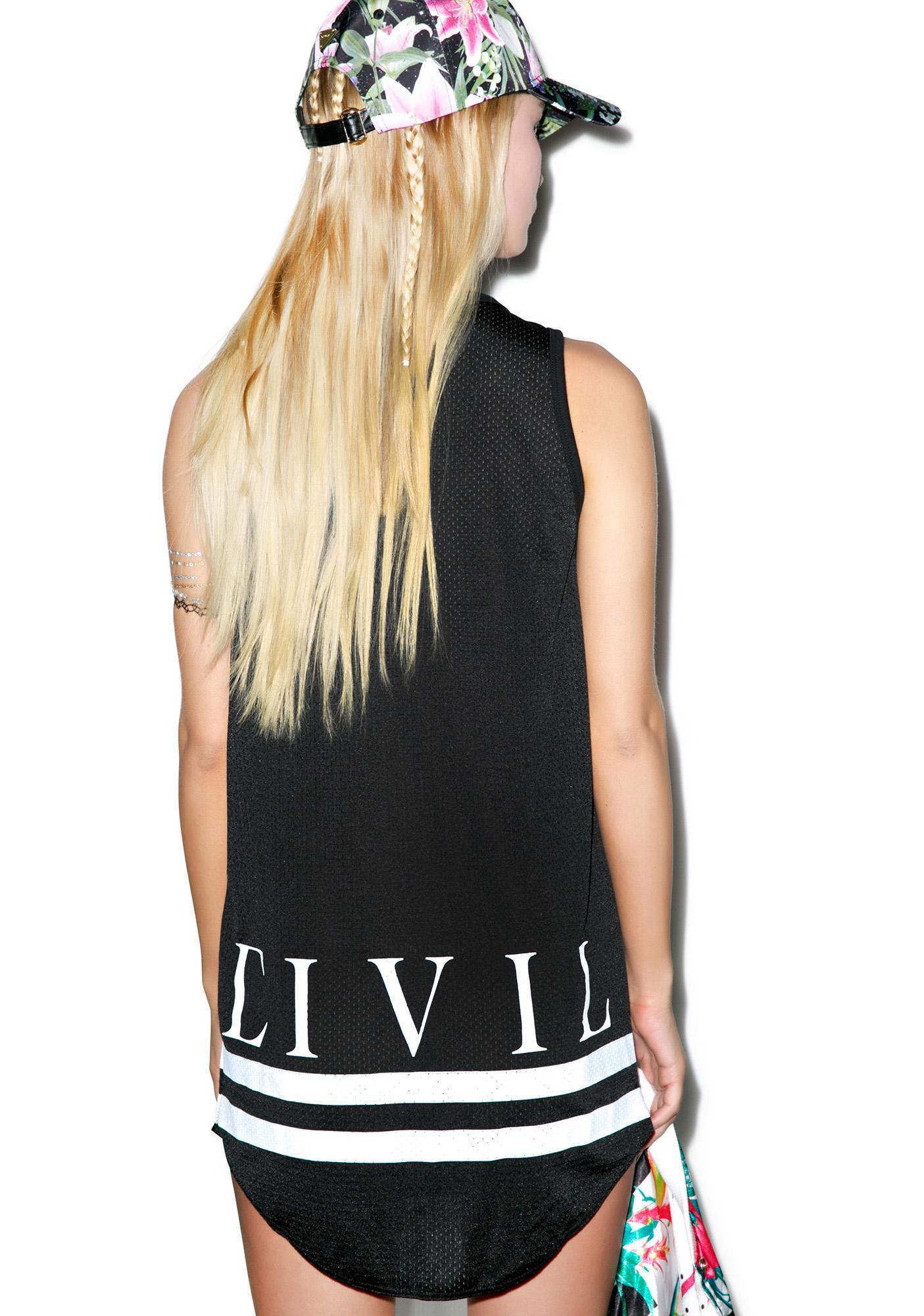 Civil Clothing 08 CTD Mesh Drop Bball Tank
