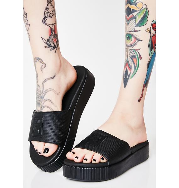 PUMA Dark Platform Slide EP Sandals