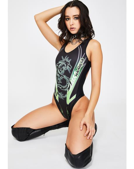 Green Dragon Racerback Bodysuit