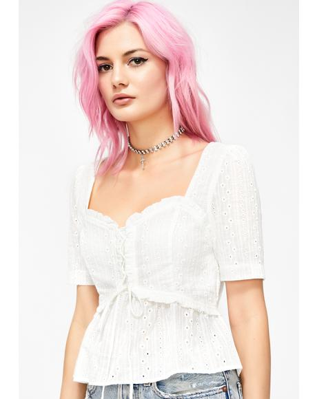 Garden Nymph Eyelet Top
