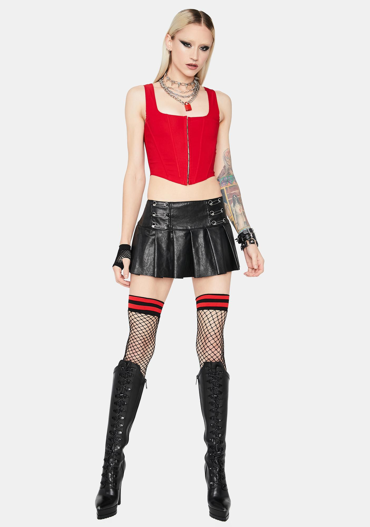 Cherry Down For It Corset Top
