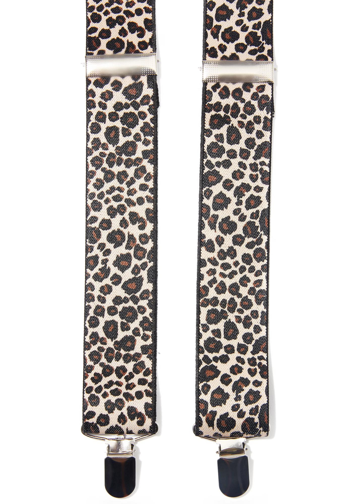 Some Weird Sin Leopard Suspenders