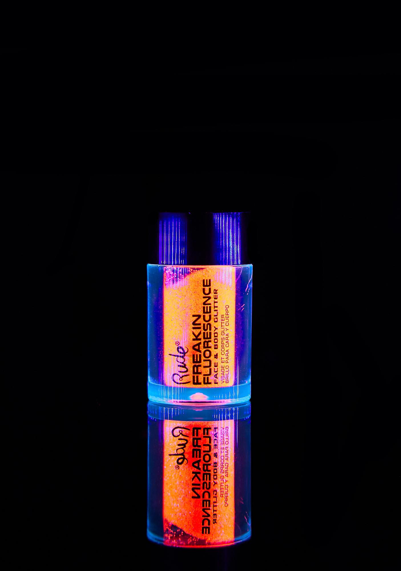 Rude Cosmetics Freakin Fluorescence Until Dawn UV Glitter